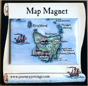 Australia Map Magnet of Tasmania