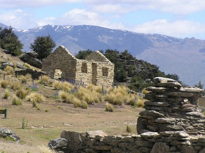 The Central Otago Bendigo old gold mining settlement