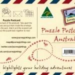 Puzzle Postcard of Australia
