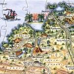 Kimberleys postcard map, Australia