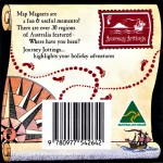 Australia Map Magnet backing card