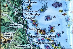 Cairns Map Magnet