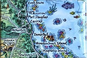Cairns Map Magnet