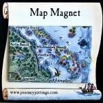 Whitsunday Islands Australia Map Magnet