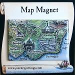 Melbourne Map Magnet on backing card
