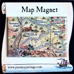 Central Outback Australia Map Magnet