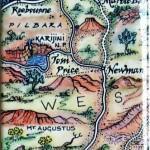 Pilbara Weatern Australia Map Magnet