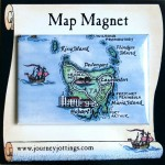 Tasmania Map Magnet on backing card