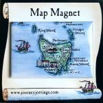 Tasmania Map Magnet on backing card