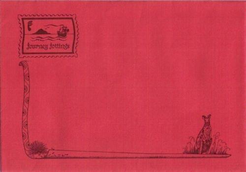 Red Journey Jottings envelope