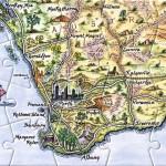 Western Australia map postcard