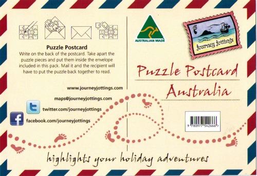 Journey Jottings Puzzle Postcard
