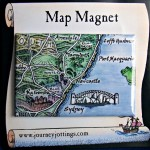 Australia E.Coast Map Magnet on backing card
