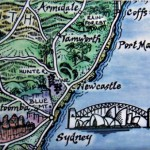 East Coast Australia Map Magnet