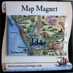 Pinnacles Desert Map Magnet