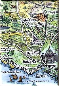 MAUS #33 Melbourne - Mildura Map Magnet