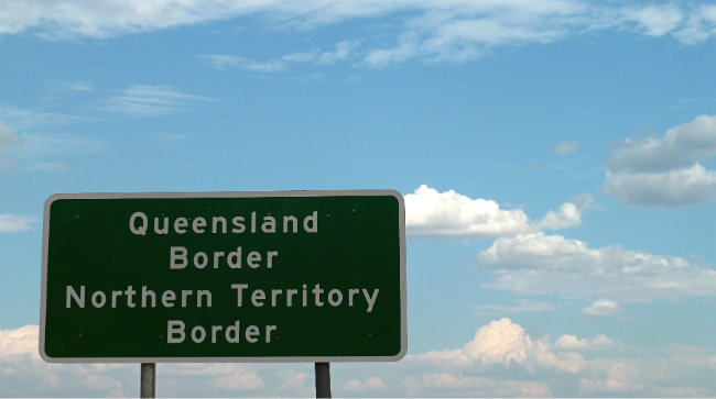 Queensland - Northern Territory Border sign