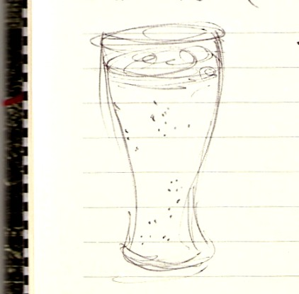 Glass beer drawing