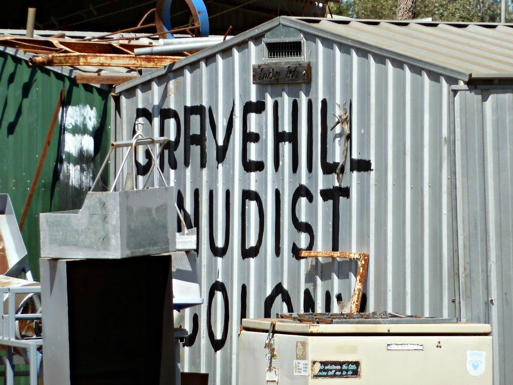 Funny Australian Sign Nudist Colony