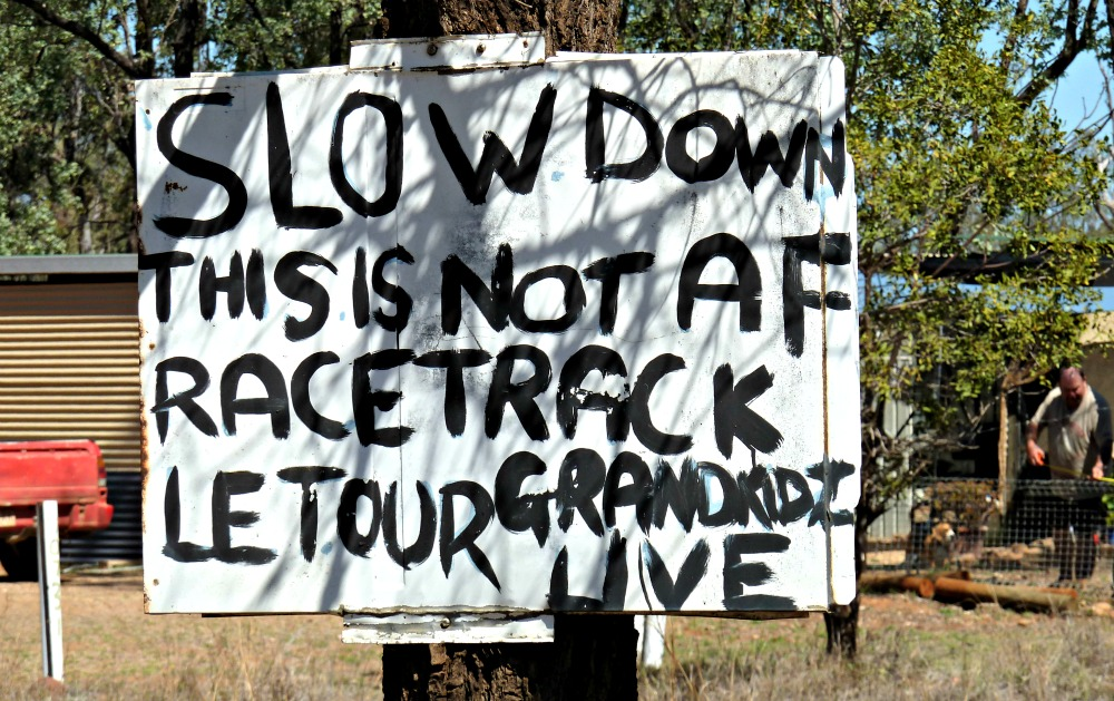 Funny Sign, slow down