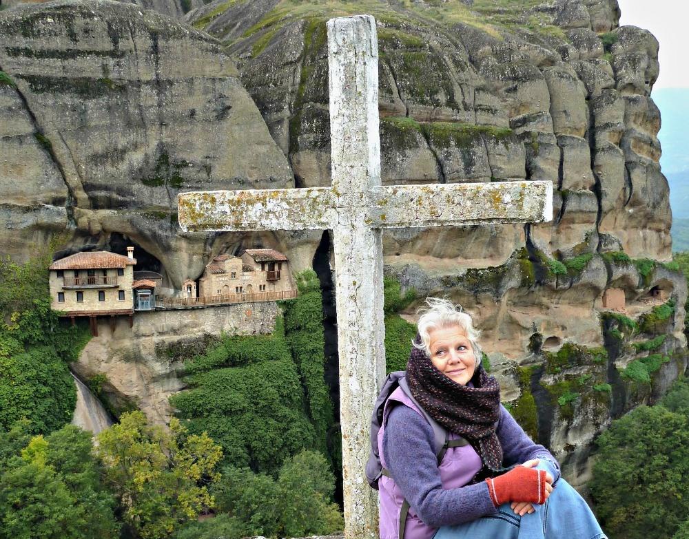 Cliff hanging monastery in Meteora