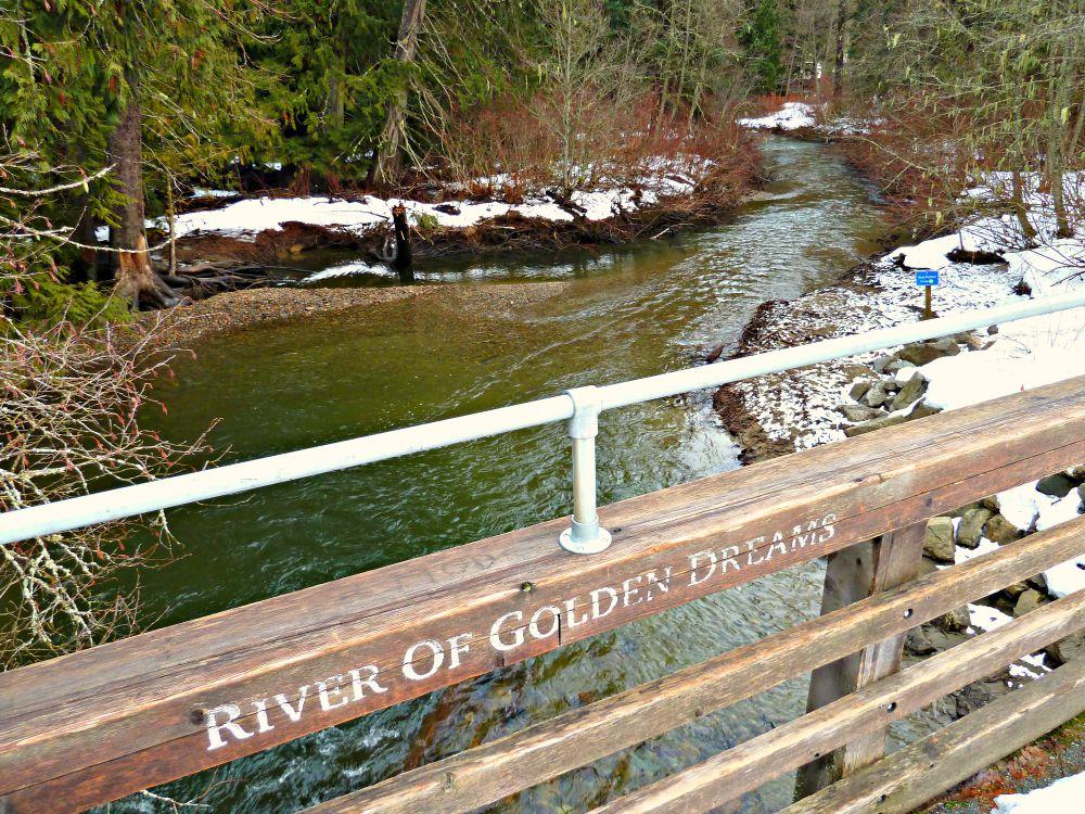 River of Golden Dream bridge in Whistler