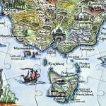 Tasmania Puzzle Postcard