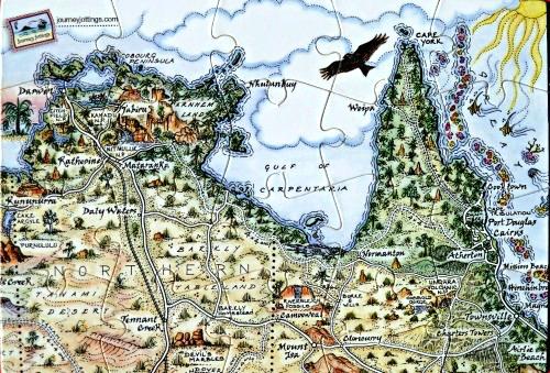 The Gulf of Carpentaria Puzzle Postcard