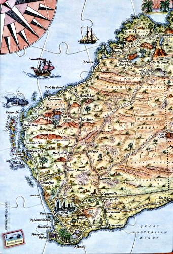 Western Australia Puzzle Postcard